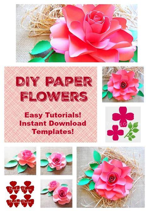 paper flower diy template diy paper flower templates and svg files diy large