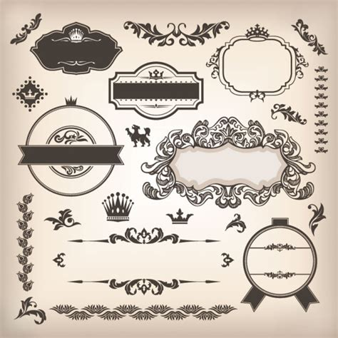 18 free label designs images free vintage label template vintage elements borders and labels vector 02 vector