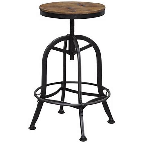 Reclaimed Wood Bar Stool Akron Collection Reclaimed Wood Adjustable Bar Stool W9556 Ls Plus