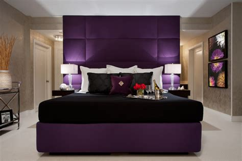 Master Bedroom Color Ideas 2013 love the faux tiled royal purple headboard