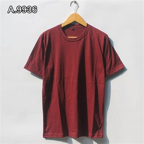 Tshirt Kaos Oblong Three Second kaos polos maron tuton a 9936 distrosurfing pusat