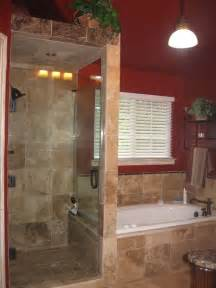 walk in shower without doors walk in shower with frameless shower door and travertine tile