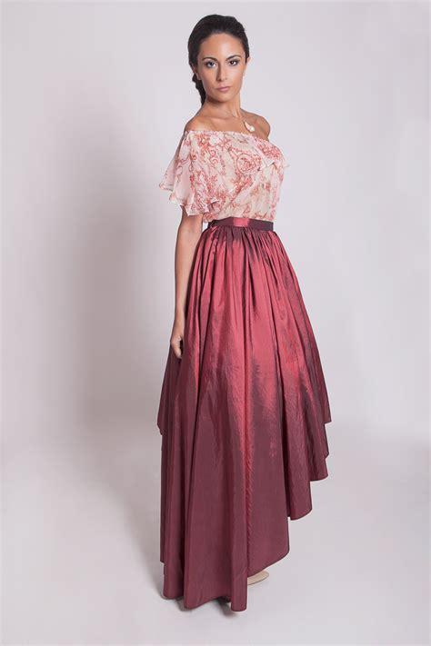 prom skirt taffeta high low skirt asymmetrical