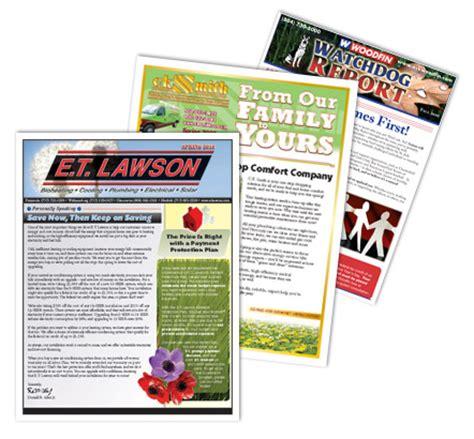 plumbing advertising develops custom newsletters for