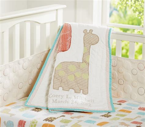Organic Nursery Bedding Sets Organic Safari Animals Baby Bedding Set Pottery Barn