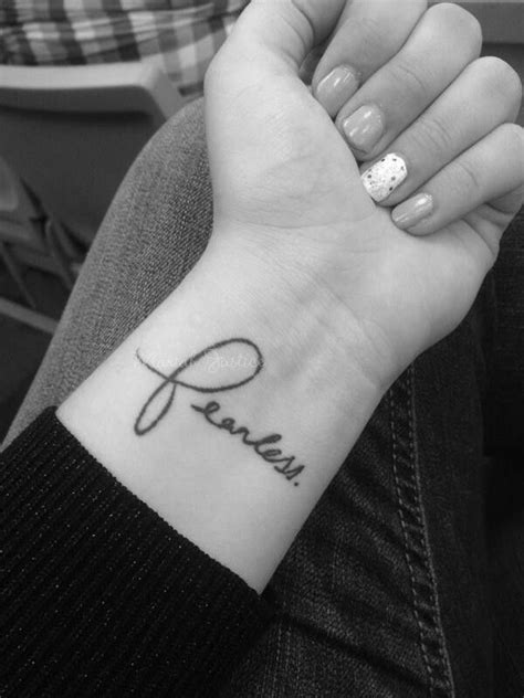 fearless wrist tattoo best 25 fearless tattoos ideas on