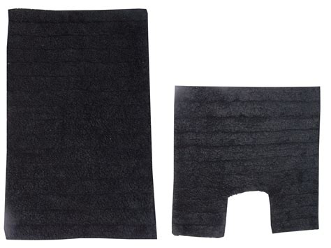 Black Bath Mat And Pedestal Set by Bath Mat Set 2 Black Bathroom Pedestal Toilet Rug