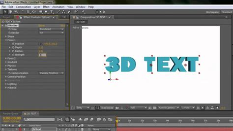 how to create a 3d text effect in adobe illustrator vectips how to create 3d text in after effects 2013 youtube