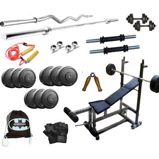 bench press rod weight 44 kg gb weight lifting home gym set with 6 in 1 bench