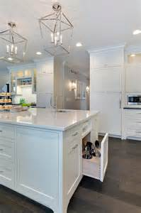 built in paper towel holder in cabinet kitchen island with pull out utensils drawer