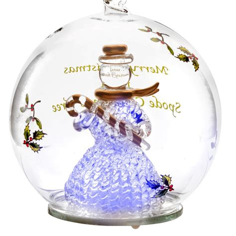 spode snowman glass led christmas ornament silversuperstore