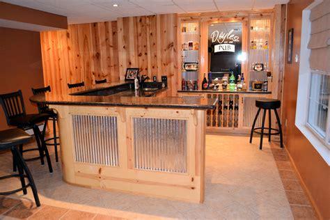 custom pine tin bar  granite countertops ak britton construction llc