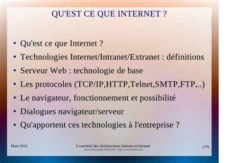 concepts dinternet intranet et extranet n apercu de ce qui peut essentiel architectures internet et intranet
