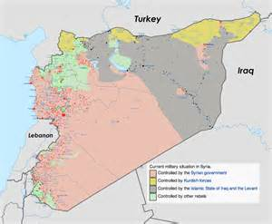 Syria Civil War Map by Site Unavailable
