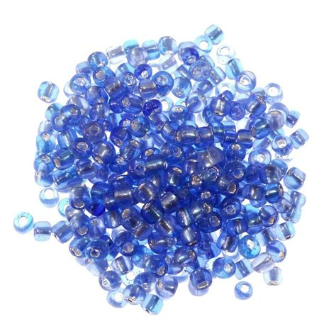 how many seed per gram seed bead silver lined 6 0 blue ounce seed how