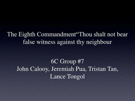 definition borne false witness you shall not bear false witness against your neighbor