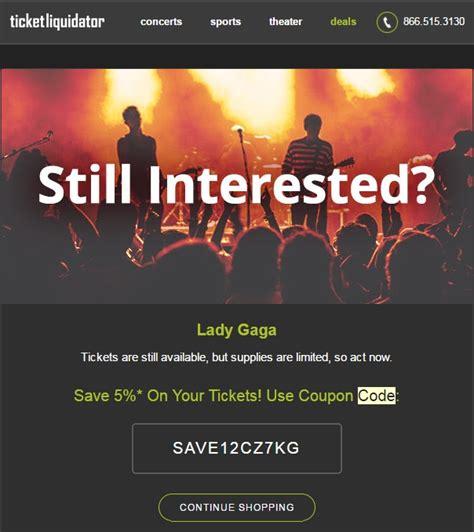 ticketliquidator promo code ticket liquidator coupon codes mega deals and coupons