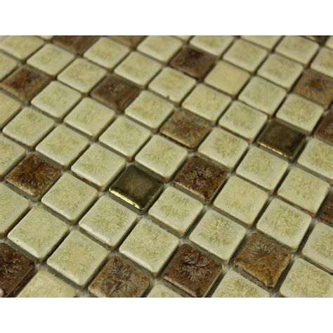 glazed porcelain square mosaic tiles design beige ceramic