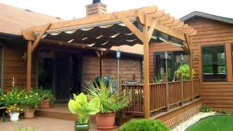 Deck Tarp Awning Pergola With Shade Fx Canopy Outdoor Living With