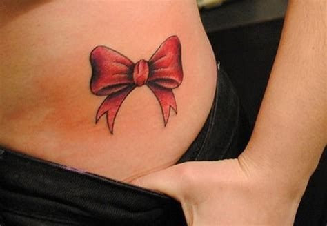 simple red tattoo bow tattoo images designs