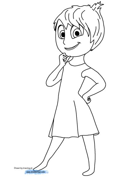 Disney Pixar Inside Out Coloring Pages Disney Coloring Book Joys Coloring Pages Page