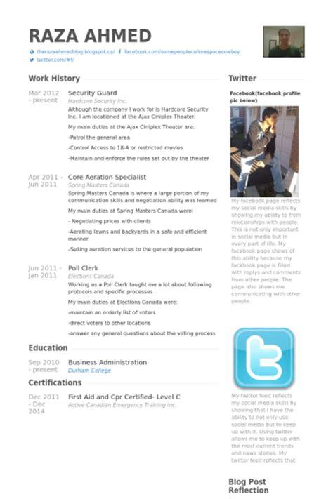 security guard resume sles visualcv resume sles