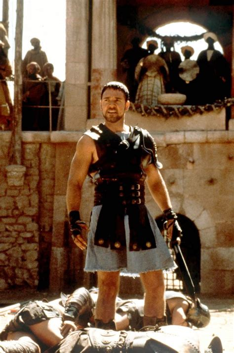 gladiator film uk rating russell crowe s sons have finally seen gladiator and given
