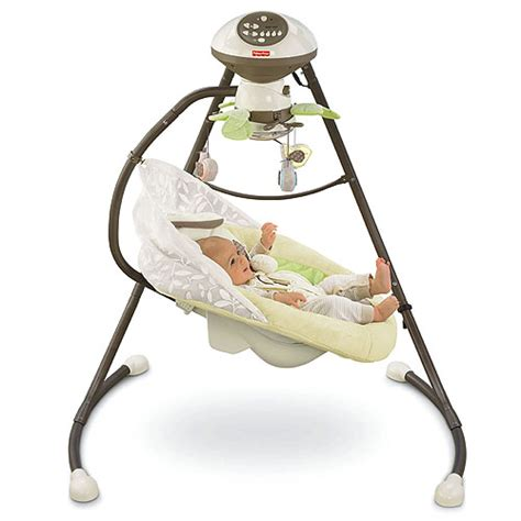 bunny fisher price swing fisher price my little snugabunny baby cradle n swing ebay