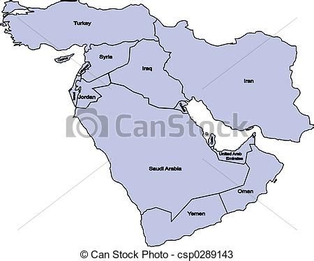 middle east map drawing drawings of middle east middle east map csp0289143