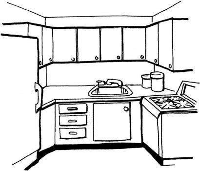 coloring page of a kitchen free kitchen coloring pages