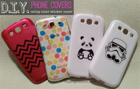 How To Decorate A Clear Phone by Diy Phone Covers With Silhouette Clear Sticker Paper
