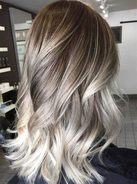 platinum highlights with ash brown hair best 25 ash balayage ideas on pinterest ash blonde