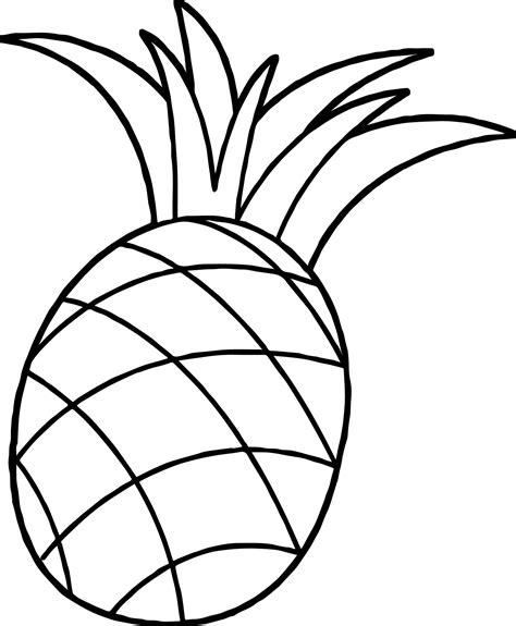 pineapple coloring page pinapple coloring pages coloring pages