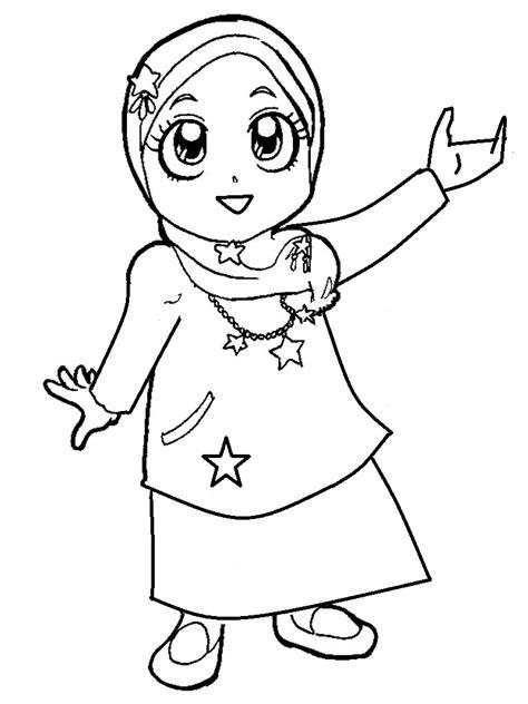 Mewarnai Gambar Muslimah Cantik   Mewarnai cerita terbaru