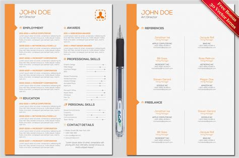 cover letter and resume template find the best photoshop resume template here