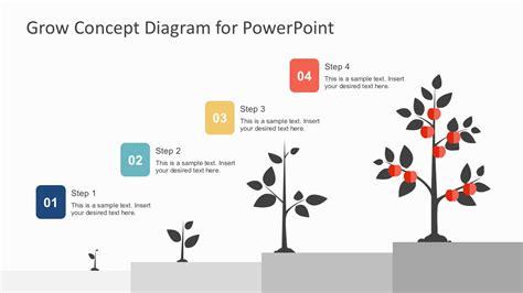 4 step circular growth diagram for powerpoint slidemodel 4 steps business growth tree diagram powerpoint slidemodel
