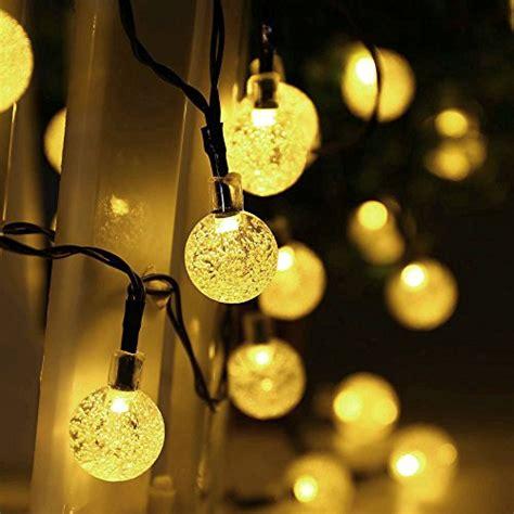 Qedertek Globe Outdoor Solar String Lights 20ft 30 Led Decorative Indoor String Lights