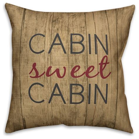 Cabin Sweet Cabin Pillow by Shop Houzz Designs Direct Creative Rustic Cabin