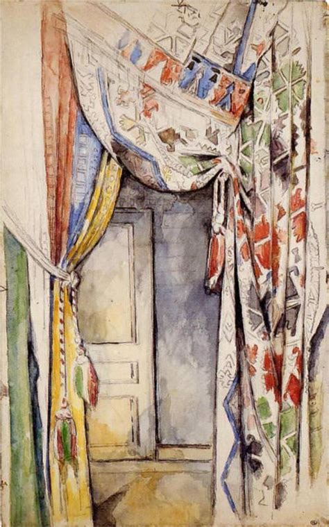 curtain paintings curtains by paul cezanne
