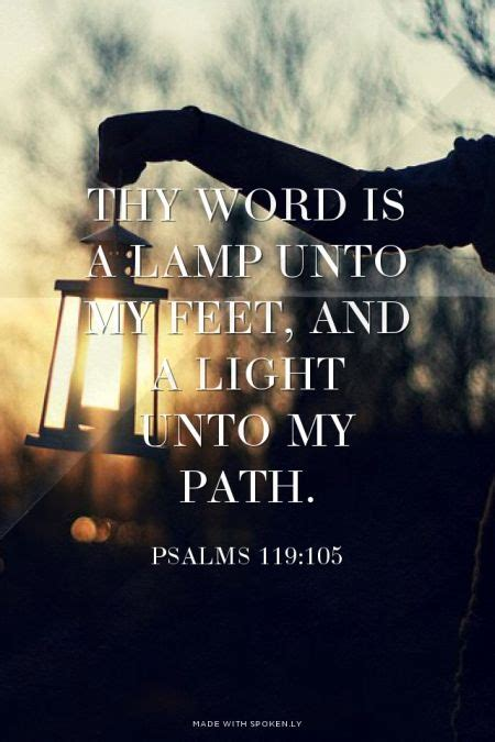 light unto my thy word is a l unto my and a light unto my path
