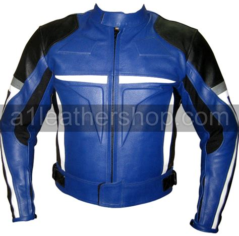 blue motorbike jacket motorcycle leather jackets top quality motorcycle