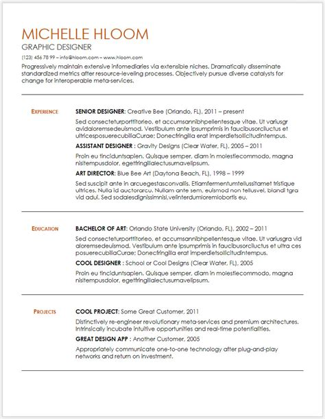 Doc Resume Templates by 12 Free Minimalist Professional Microsoft Docx And