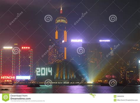 is new year celebrated in hong kong new year celebration in hong kong 2014 editorial photo
