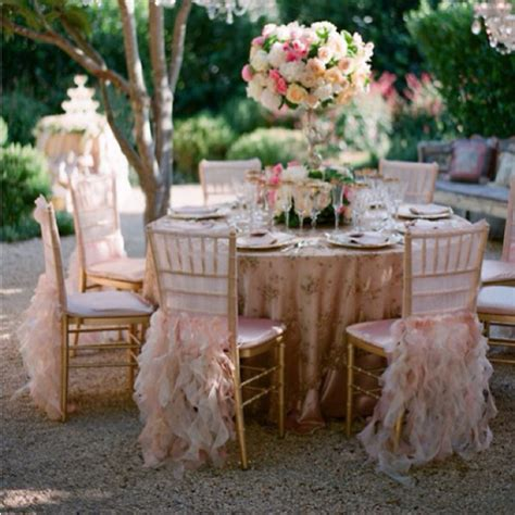 chairs garden wedding ruffled seat cover tidbits twine