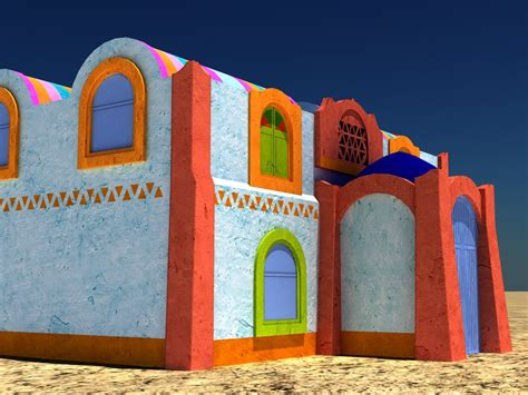 house of nubian 3d model of nubian house