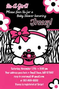 hello kitty zebra print printable baby shower party