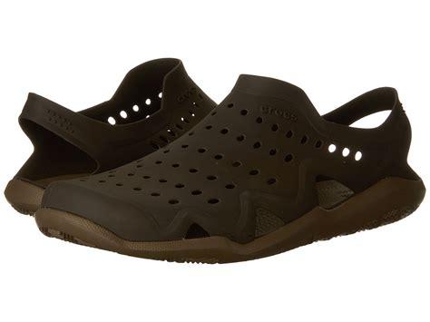 croc water shoes crocs swiftwater wave espresso walnut zappos free