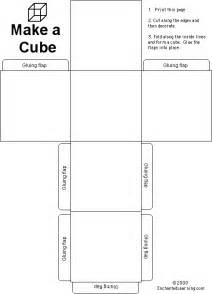 How To Make A Cube Template by Cube Enchantedlearning