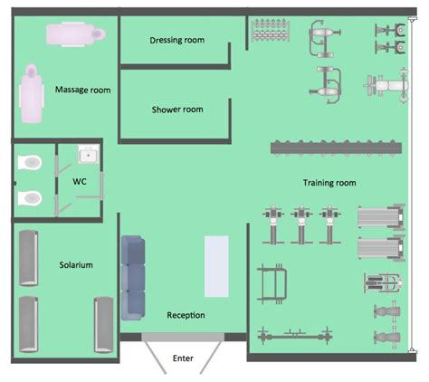 home exercise room design layout 8 best gym images on pinterest architecture drawing plan