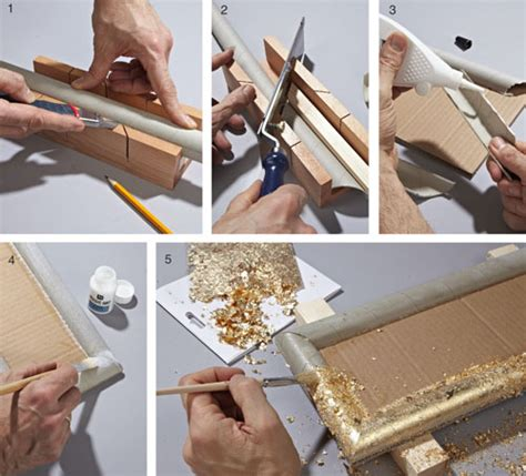 cornici in cartone fai da te cornice decorativa con cartone e foglia oro bricoportale